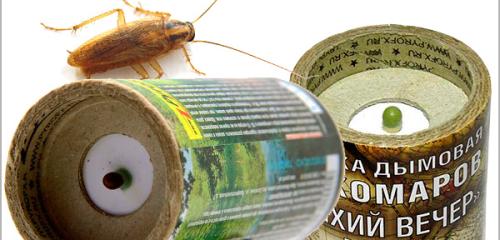 Insekticidala rökbomber för att döda kackerlackor i lägenheten